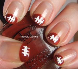 Football Nail Art Tips