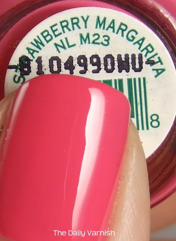 Opi Strawberry Margarita The Daily Varnish