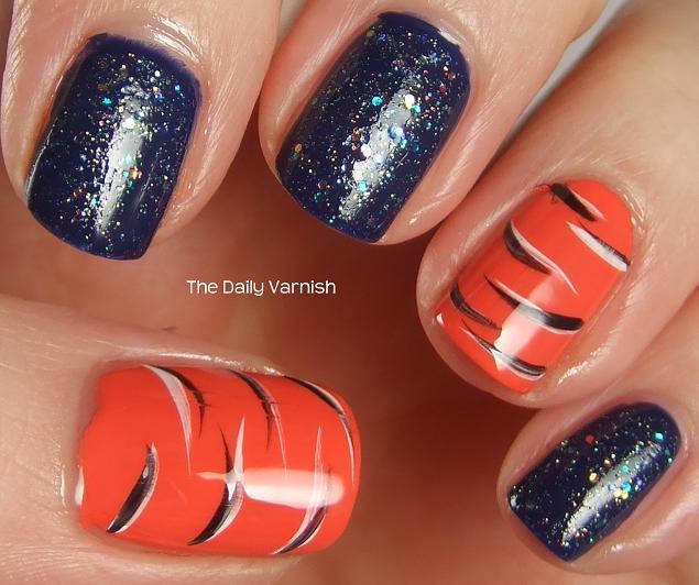 Nail art tiger stripes glitter the daily varnish advertisements prinsesfo Choice Image