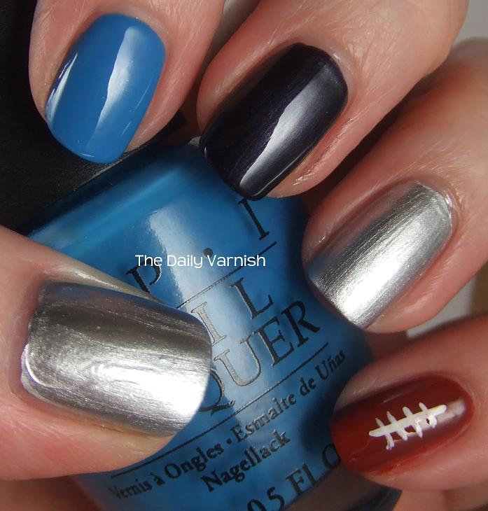 Advertisements - Nail Art: Carolina Panthers Manicure The Daily Varnish