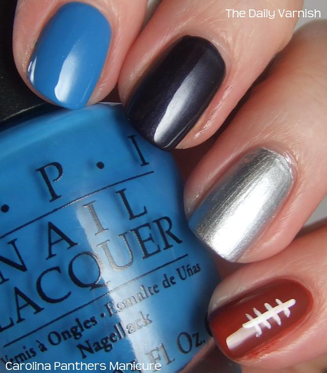 You ... - Nail Art: Carolina Panthers Manicure – The Daily Varnish
