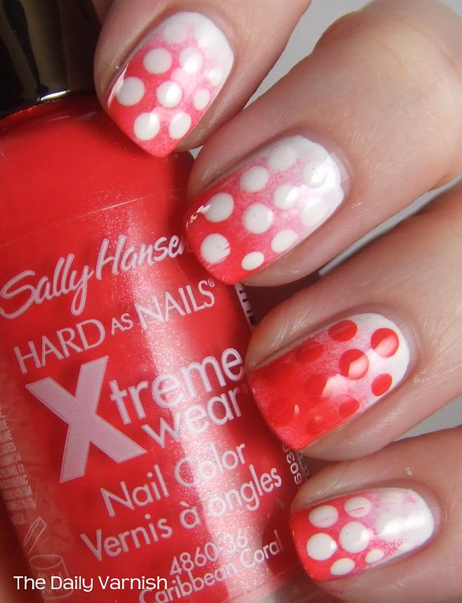 Nail Art: Pink Gradient & Polka Dots – The Daily Varnish