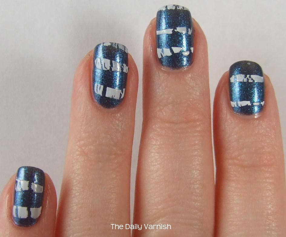 Nail Art: Crackle Stripes – The Daily Varnish