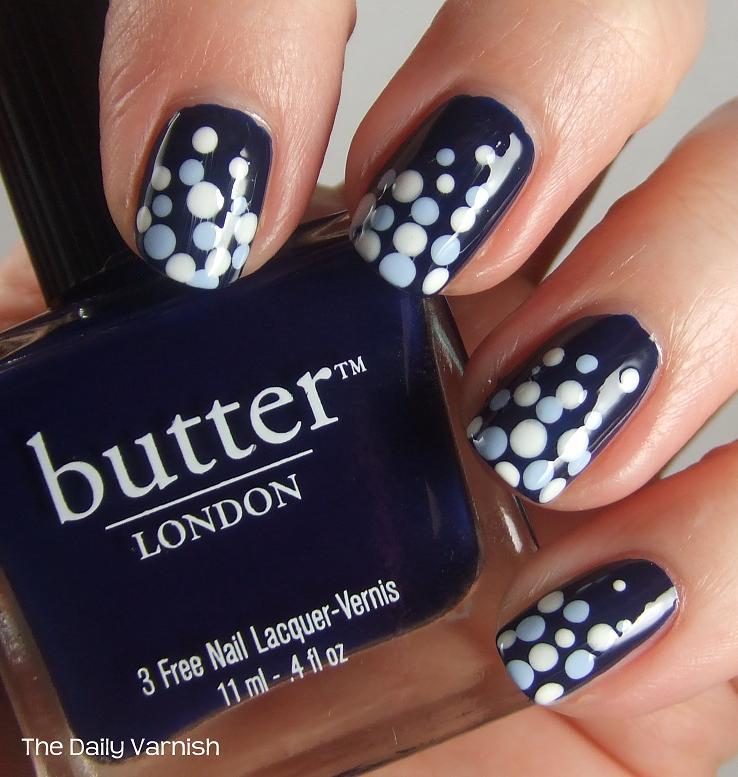 Nail art polka dot fade the daily varnish nail art polka dot fade prinsesfo Gallery