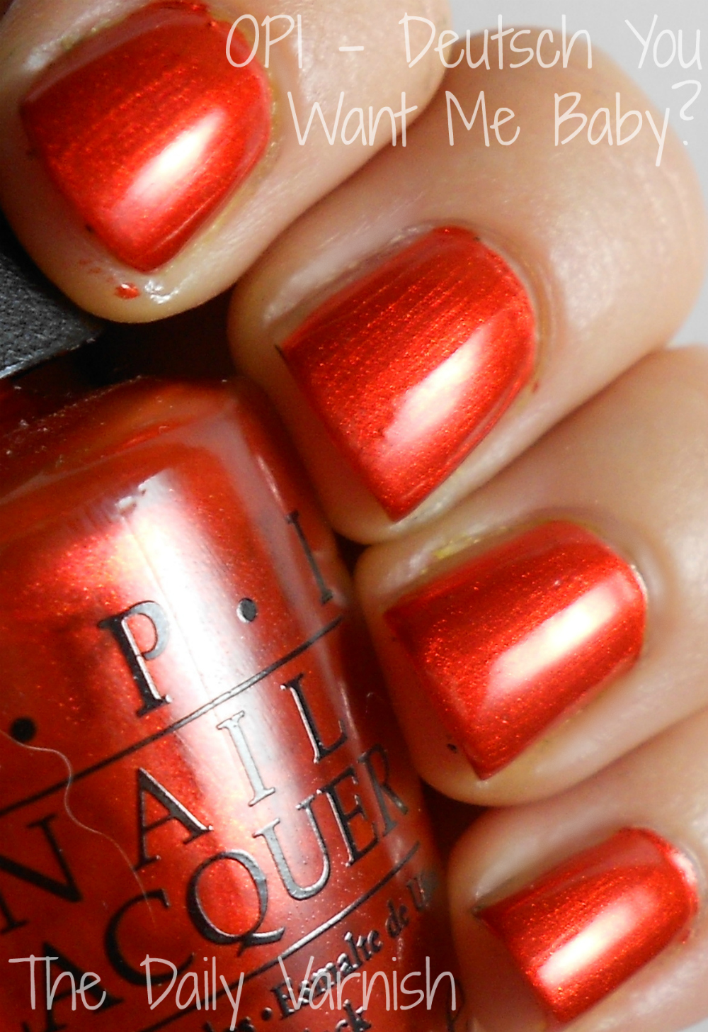 Opi Deutsch You Want Me Baby The Daily Varnish