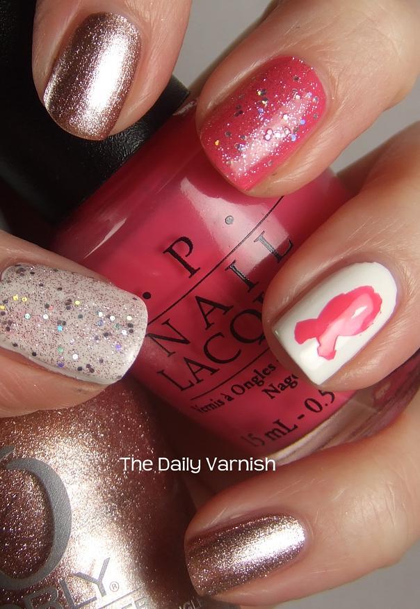 Nail Art Breast Cancer Awareness The Daily Varnish