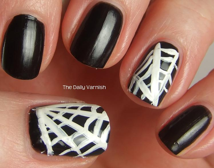 Trick Or Treat Diy Spider Web Nails The Daily Varnish
