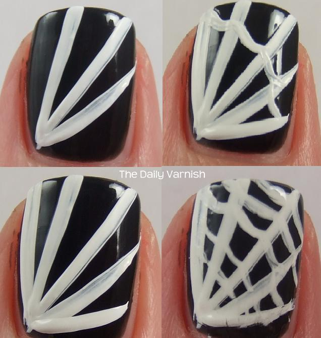 Trick or Treat: DIY Spider Web Nails – The Daily Varnish