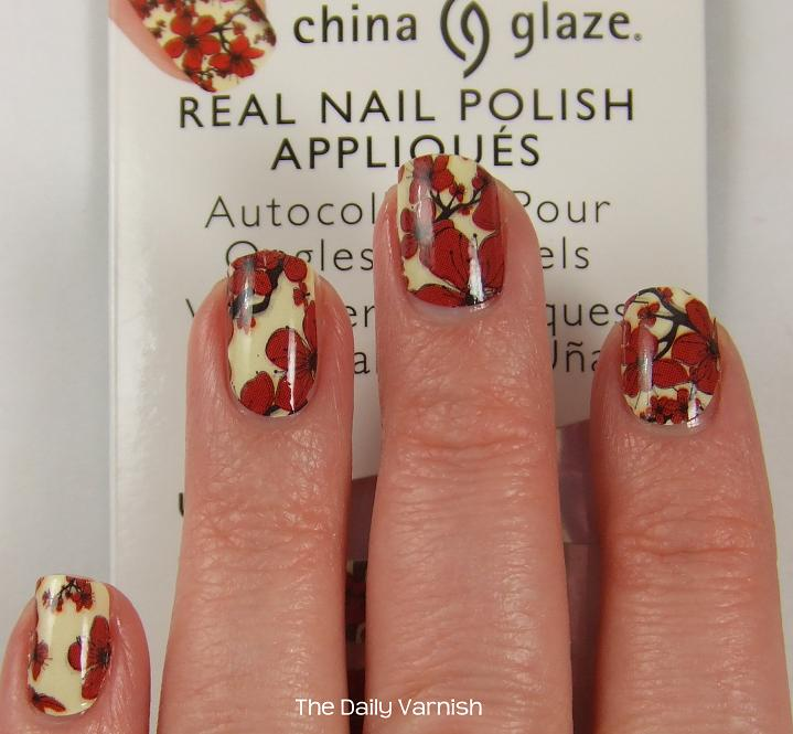 China Glaze Real Nail Polish Appliques Cherry Blossoms | The Daily ...
