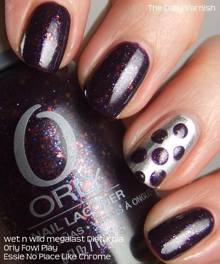 Polka Dot Nail Art: Nail Art: Large Purple Polka Dots