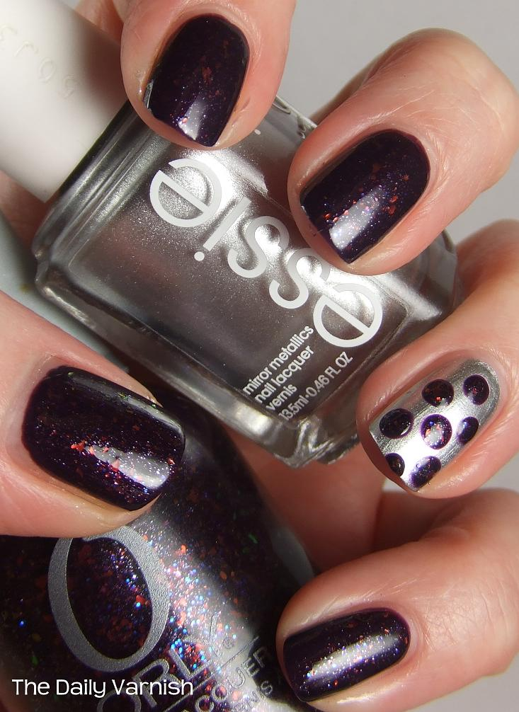 Nail Art Designs And Nail Polishes For French Manicure: Nail Art: Large Purple Polka Dots