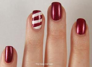 Nail Art Easy Candy Cane Nails 2