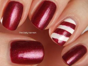 Nail Art Easy Candy Cane Nails 3
