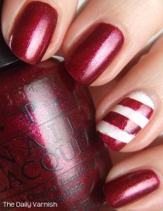 Nail Art Easy Candy Cane Nails
