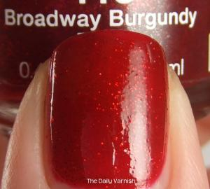 NYC Broadway Burgundy MACRO