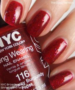 NYC Broadway Burgundy SinfulColors Faceted