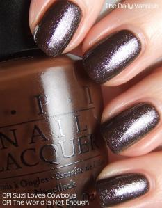OPI Suzi Loves Cowboys OPI The World is Not Enough