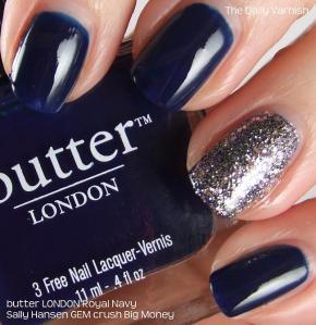 butter LONDON Royal Navy Sally Hansen GEM crush Big Money