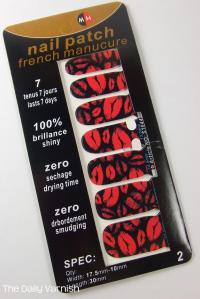 OMG Nail Strips Pink Kisses packaging