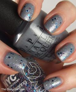 OPI I Don't Give a Rotterdamn NYC Starry Silver