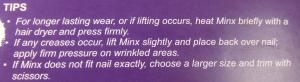 Minx Tips