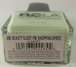 NCLA AM Beauty Sleep, PM Shopping Spree label