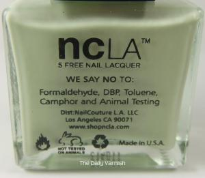 NCLA bottle back