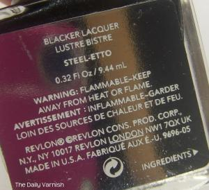 Revlon Steel-etto label
