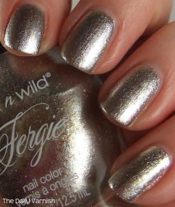 wet n wild Fergie nail color Going Platinum 4