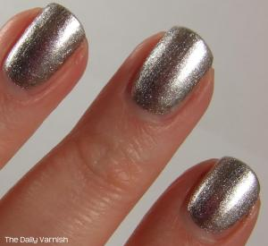 wet n wild Fergie nail color Going Platinum MACRO