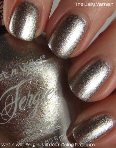 wet n wild Fergie nail color Going Platinum