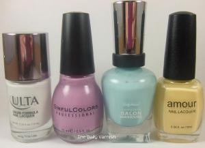 Ulta Snow White, SinfulColors Beverly Hills, Sally Hansen Barracuda, Amour Arnold Palmer
