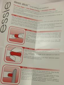 Essie Sleek Stick Directions