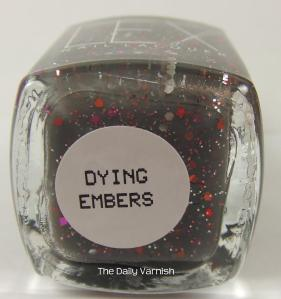 Lex Cosmetics Dying Embers label