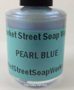 Market Street Soap Works Pearl Blue Bottle