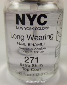 NYC Extra Shiny Top Coat bottle