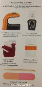 Sally Hansen Insta-Gel Strips Starter Kit contents