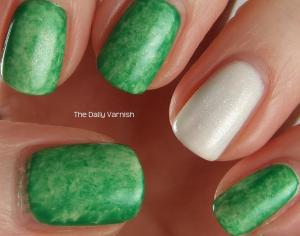 St Patrick's Day Mani 2013 before