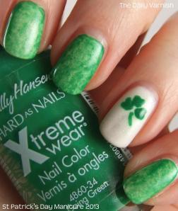 St Patrick's Day Mani 2013