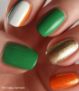 St Patrick's Day Manicure 2013 2
