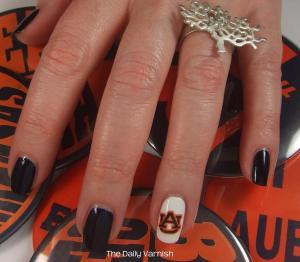 Nail Art: Temporary Tattoo Nail Art (+ why Auburn's Toomers Oaks ...