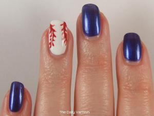 Baseball Nail Art 2