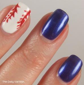 Baseball Nail Art 3