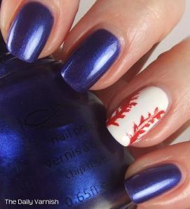 Baseball Nail Art 4