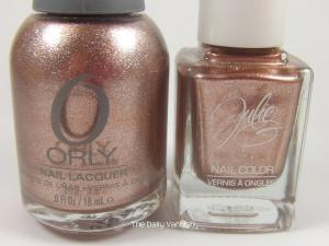 JulieG Liquid Metal vs Orly Rage bottles