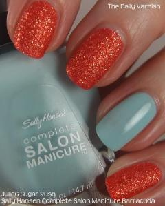 JulieG Sugar Rush and Sally Hansen Barracuda