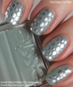 Metallic Polka Dot Nail Art