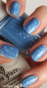 Plastic Wrap Manicure Essie Avenue Maintain and China Glaze Dandy Lyin' Around