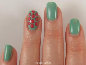 Textured Polka Dot Nail Art 2