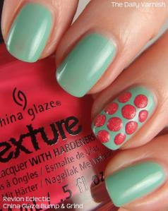 Textured Polka Dot Nail Art